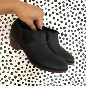 Wolverine Leather ankle booties